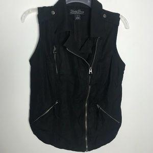 Lucky Brand linen blend vest M EUC